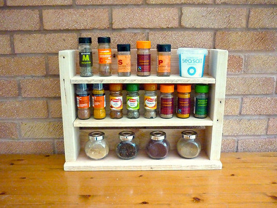 Spice Rack - Natural Finish