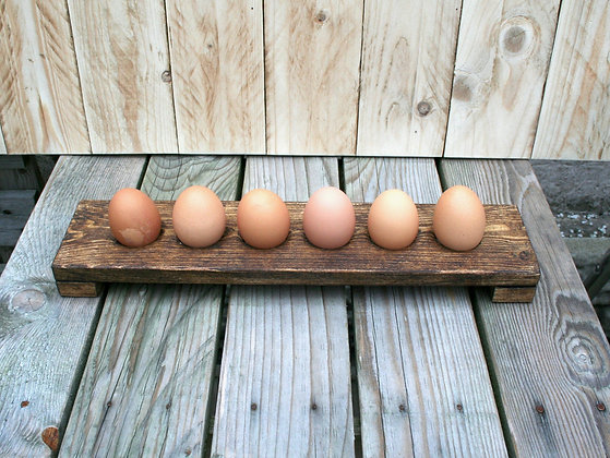 Egg Caddy - Rustic Brown