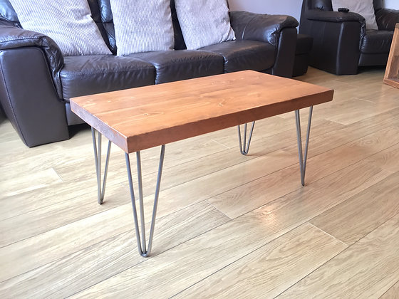 Rustic Wooden Coffee Table - Solid Chunky Style