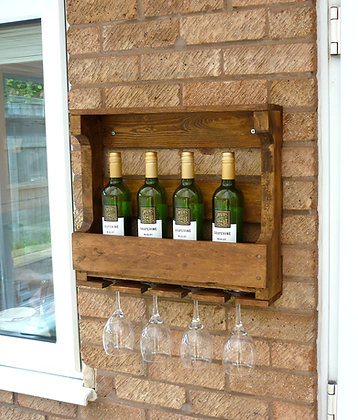4 Bottle - Medium Oak