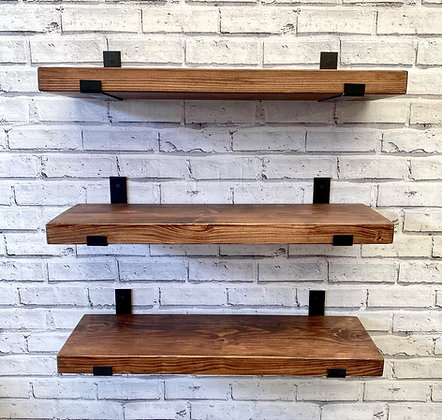 Rustic Shelves | Solid Chunky Wood | Home | Office | Bar | 22cm x 4.5cm