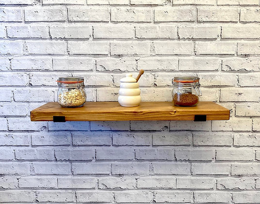 Rustic Shelves | Solid Chunky Wood | Home | Office | Bar | 22cm x 3.6cm