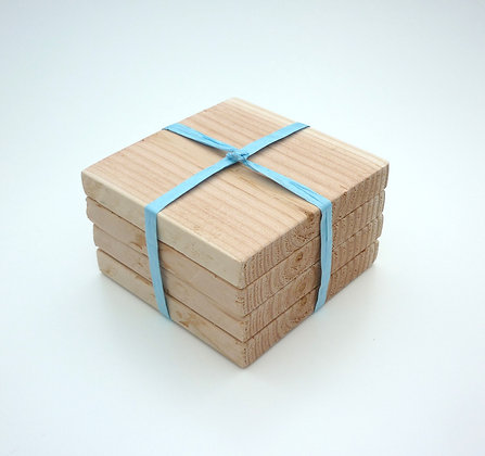 Chunky Wooden Rustic Coasters