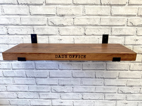Personalised Rustic Shelves   Solid Chunky Wood   Home Office Bar   22cm x 4.5cm