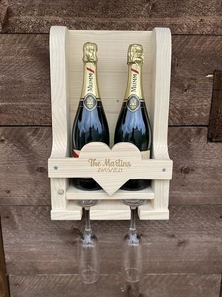 Engraved Heart Wine Rack