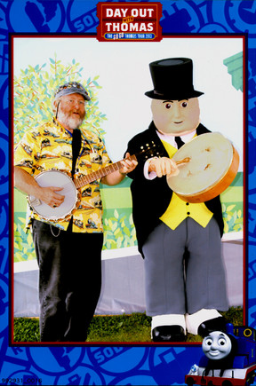 Tom jammin' with Sir Topham Hatt, DOWT Boothbay ME (2013)