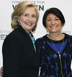 Janet Ferone with Hillary Clinton at MA Conference for Women