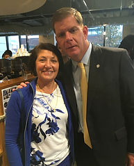 Janet Ferone with Boston Mayor Marty Walsh