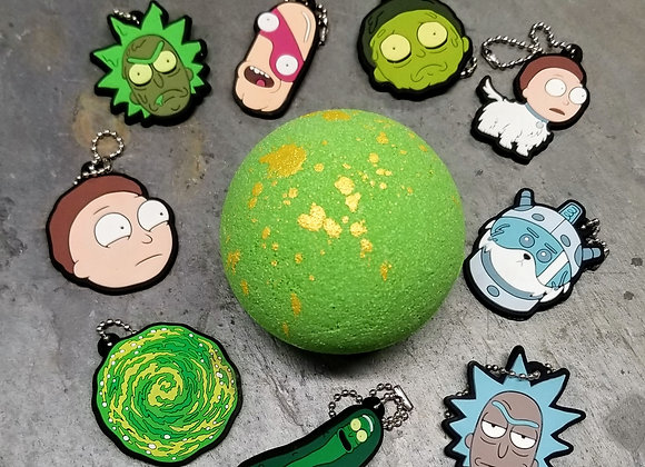 Rick & Morty Prize Bath Bomb