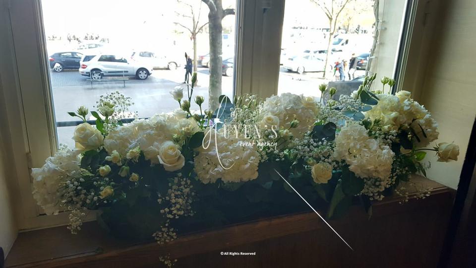 Chemin de fleurs - Création Huyen's Event Agency
