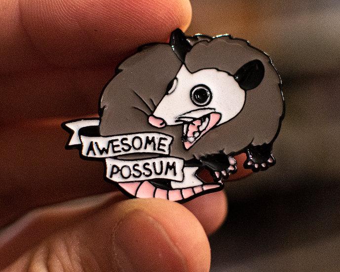 Awesome Possum Enamel Pin