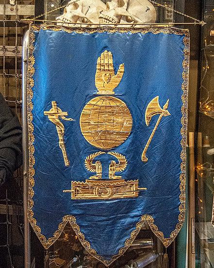 Antique Oddfellows Lodge Banner