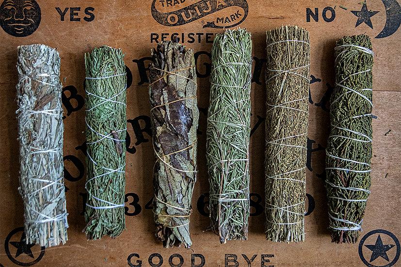 Smudges - Mugwort, Cedar, Yerba Santa, Rosemary, Desert Sage, Juniper