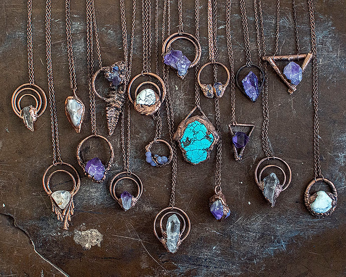 Copper Plated Jewelry by Jane Vincent