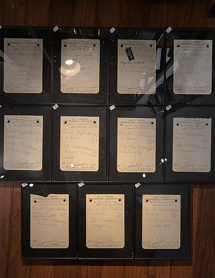 Antique Heroin Prescription - Framed