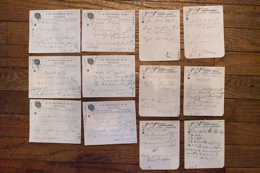 12 Misc. Antique Prescriptions