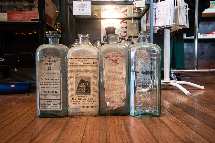 Antique Half-Gallon Embalming Bottles