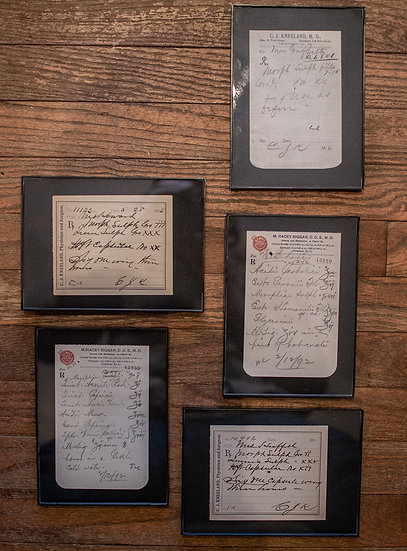 Antique Morphine Prescription - Framed