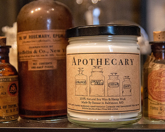 Apothecary - 9oz Soy Candle
