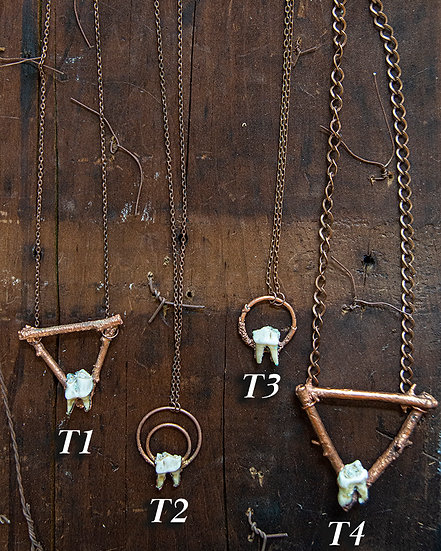 Copper Plated Teeth Jewelry by Jane Vincent