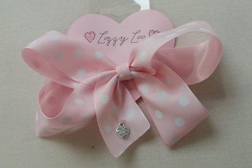 Pink polka dot southern style bow (BPPS)