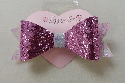 Pink glitter bow large ( BGLP)