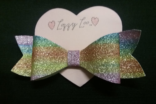Rainbow glitter bow large (RGBL)