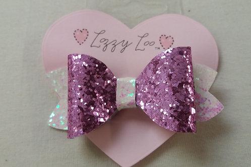 small dark pink glitter bow (GBSDP)