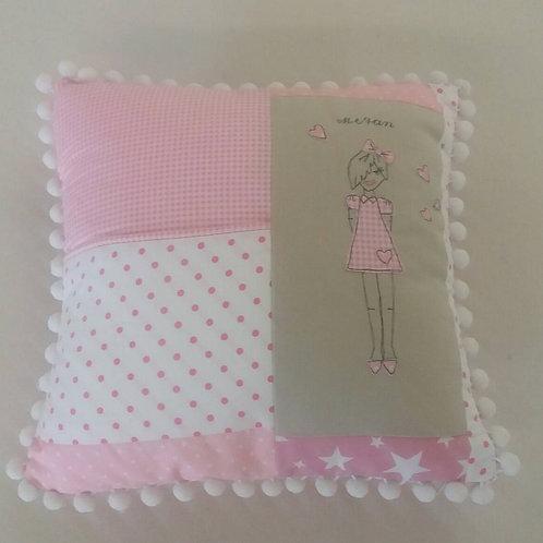 pastel pink book cushion (LLCPP)