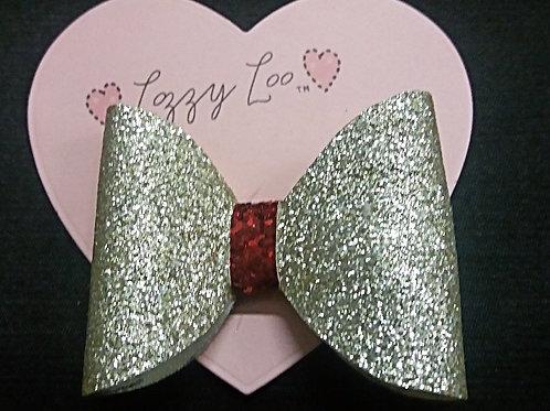Gold xmas glitter bow (GXGB)