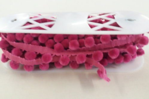 cerise bobble trim