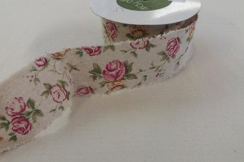Vintage rose 60mm ribbon