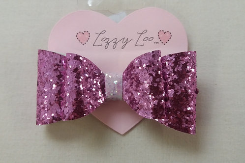 Double dark pink glitter bow (DBDP)