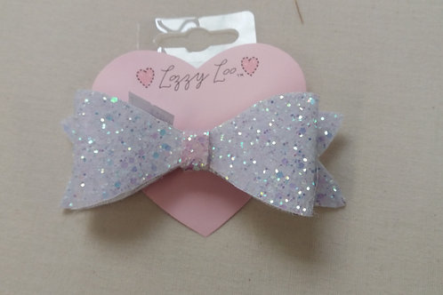 White glitter bow (GBW)