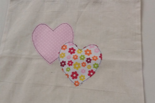 Calico Heart tote bag floral   (CF)