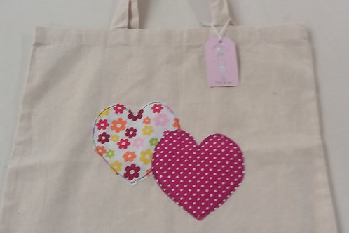 Calico Heart tote bag Dark pink spot (CDP)