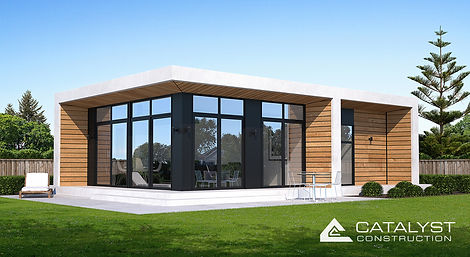 The Quincy Minor Dwelling - stylish, architectural design, built by Registered Masterbuilders.