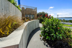 Curved concrete walls
