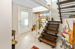 Unique impactful cedar staircase