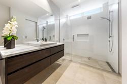 Clean lines in bathroom