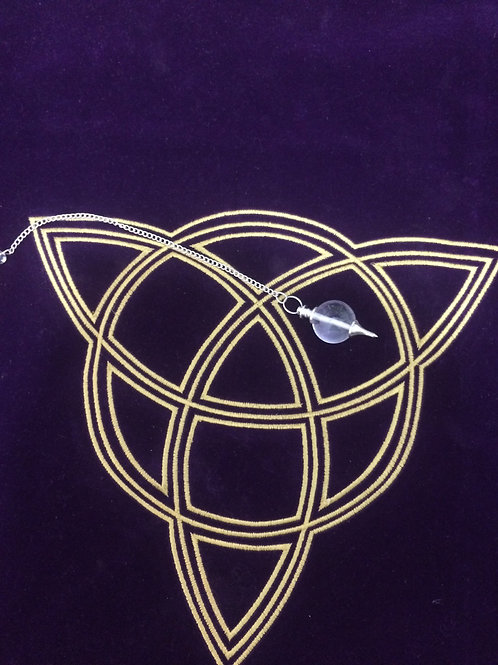 Pendule sphère cristal extra
