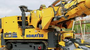 Komatsu e Vale fazem parceria para desenvolvimento de corte de rocha dura