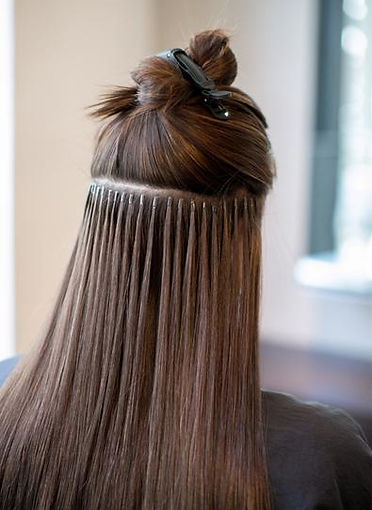 Micro Rings Hair Extensions Application.