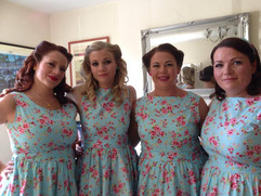 Bridesmaids Wedding hair and makeup services by Fine to Fabulous