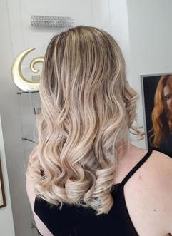 Blonde balayage hair colour