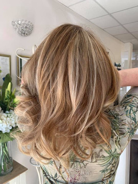 Balayage Highights at Fine to Fabulous Salon