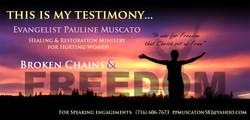 Evangelist Pauline Muscato Ministry Flyer