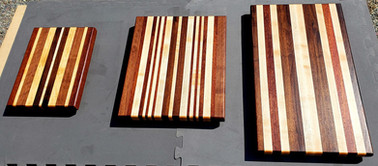 Cutting Board Set - Maple, Black Walnut,