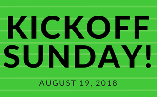 Join us for Kickoff Sunday on August 19th