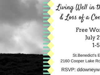 POSTPONED: LIVING WELL IN THE MIDST OF GRIEF AND LOSS OF A COMPANION ANIMAL